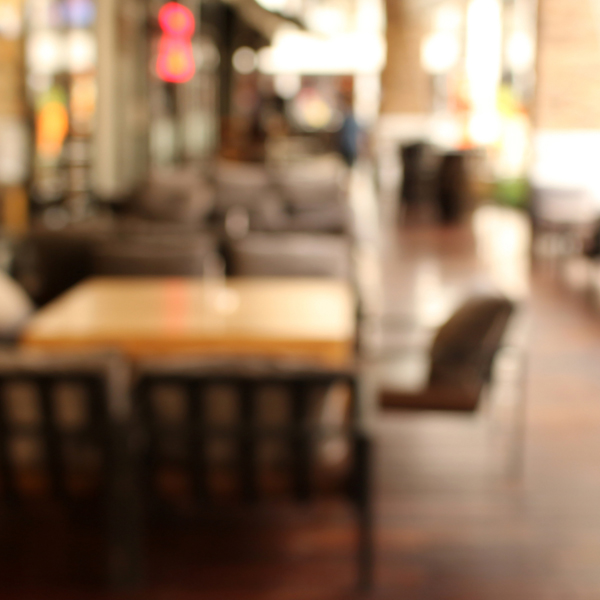 Blurred background : Customer at restaurant blur background with
