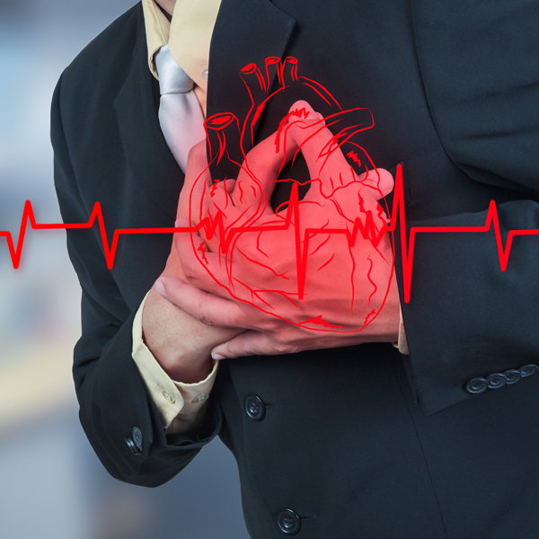 businessman having heart attack,insurance concept